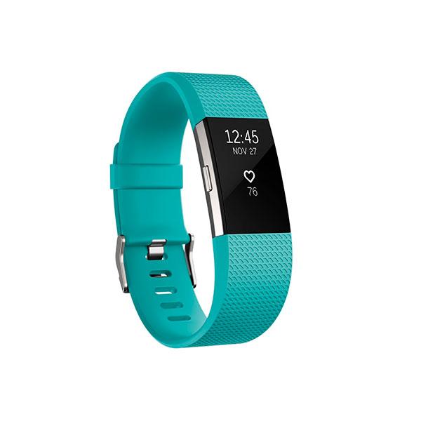 Fitbit Charge 2 Pequeña turquesa/plata – Pulsera actividad