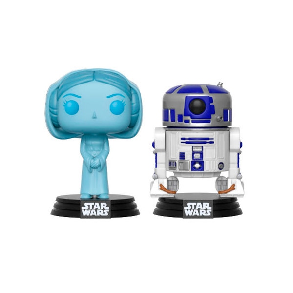 Figuras POP Star Wars Holographic Leia and R2-D2 SDCC 2017