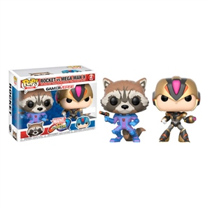 Figuras POP! Capcom vs Marvel Rocket vs MegaMan X Exclusive