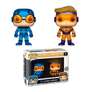 Figuras POP DC Blue Beetle & Booster Gold Metallic Exclusive