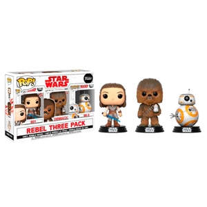 Set 3 figuras POP! Star Wars VIII The Last Jedi Good Guys