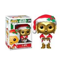 Figura POP Star Wars Holiday C-3PO as Santa