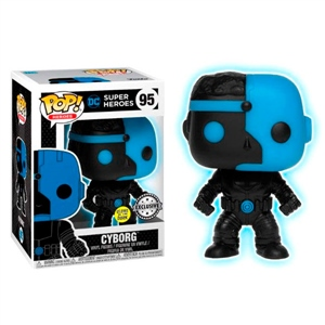 Figura POP DC Comics Justice League Cyborg Silhouette Excl.