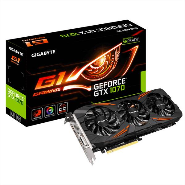 Gigabyte Nvidia GeForce GTX1070 G1 Gaming 8GB – Gráfica