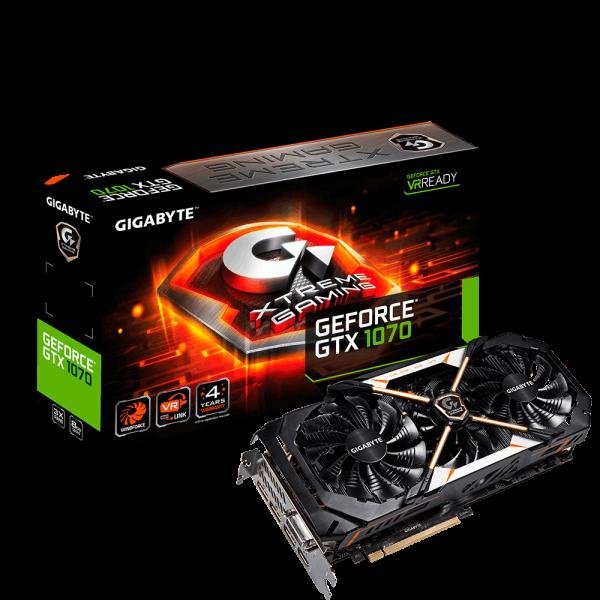 Gigabyte Nvidia GeForce GTX1070 XTREME 8GB – Gráfica