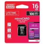 GOODRAM Micro SD 16GB M1AA CL10 UHS-I + adaptador - Memoria