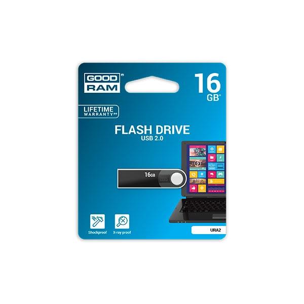 GOODRAM Pendrive 16GB URA2 USB 2.0 Negro - Memoria