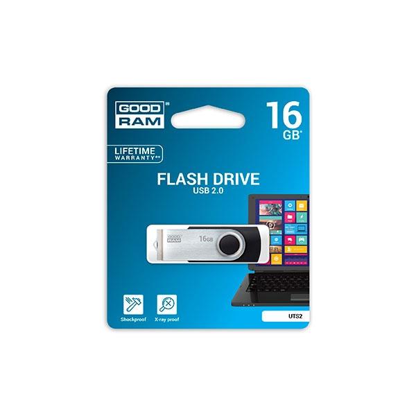 GOODRAM Pendrive 16GB UTS2 USB 2.0 Negro - Memoria