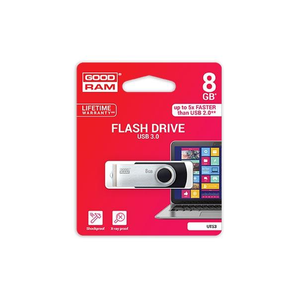 GOODRAM Pendrive 8GB UTS3 USB 3.0 Negro - Memoria
