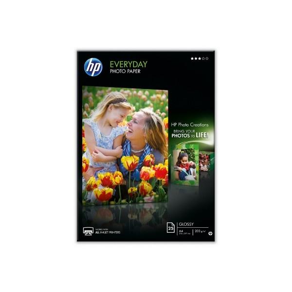 HP Papel fotografico semisatinado 25 Hojas 210x297mm –