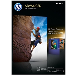 HP Papel fotográfico Advanced Satinado Tinta A4 – Papel