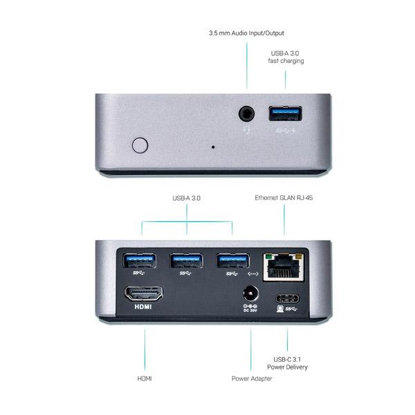 I-Tec USB-C HDMI USB3.0 x4 LAN - Dock