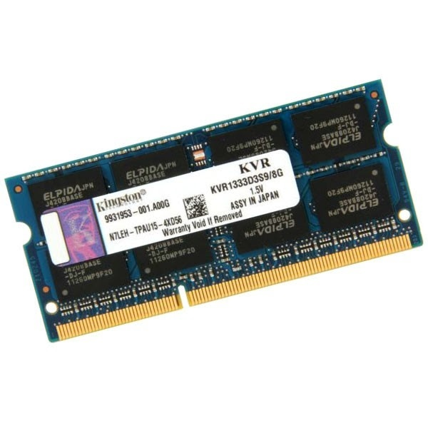 Kingston ValueRAM DDR3 1333MHz 8GB SO DIMM – Memoria RAM