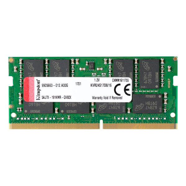 Kingston DDR4 2400MHz 16GB SODIMM – Memoria RAM