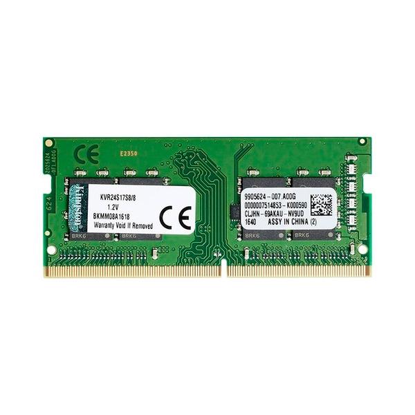 Kingston DDR4 2400MHz 8GB CL17 SODIMM 1Rx8 – Memoria RAM