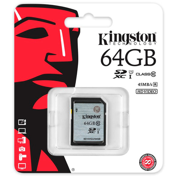 Kingston 64GB SDXC UHS I – Memoria SD