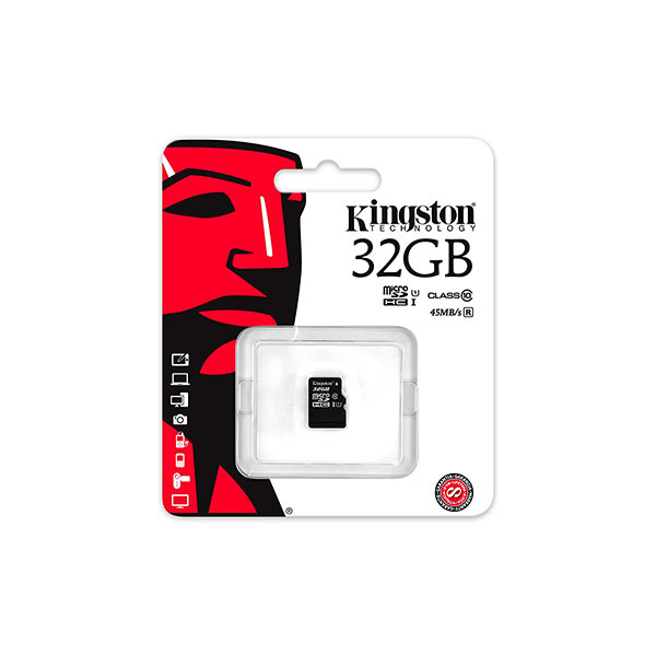 Kingston – tarjeta de memoria flash 32 GB – microSDHC UHS-