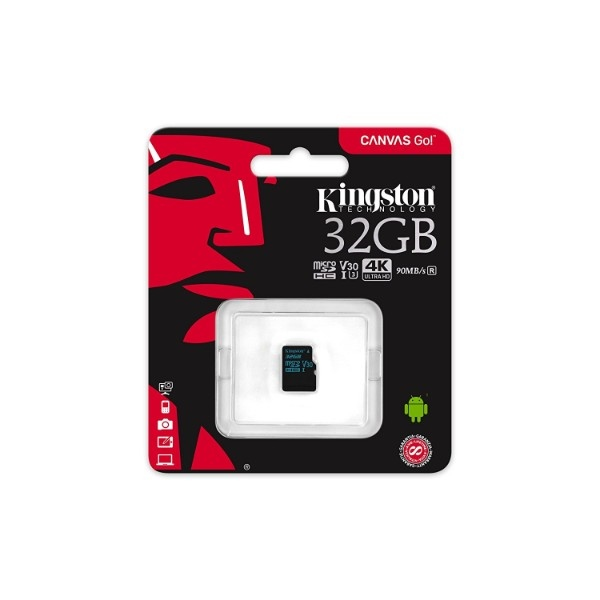 Kingston MicroSD Canvas Go! 32GB – Memoria Flash