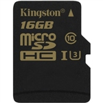 Kingston MicroSD Gold UHS-I U3 16GB – Memoria Flash