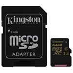 Kingston MicroSD Gold UHS-I U3 64GB c/ad – Memoria Flash
