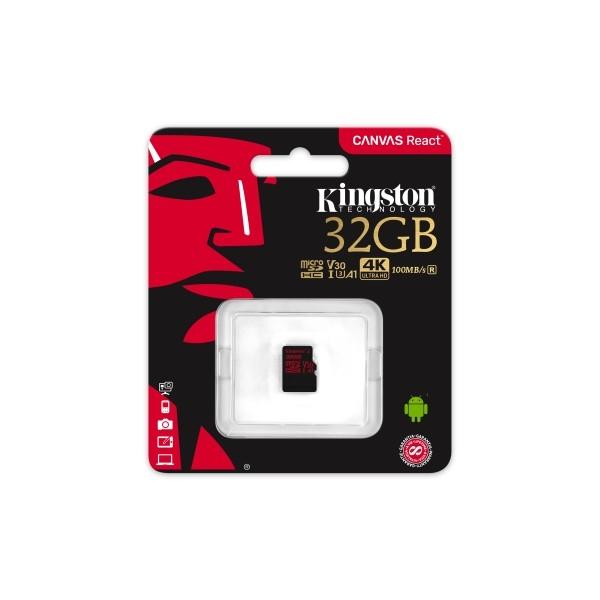 Kingston Canvas React MicroSD 32GB – Memoria Flash