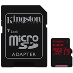 Kingston Canvas React MicroSD 64GB c/ad – Memoria Flash