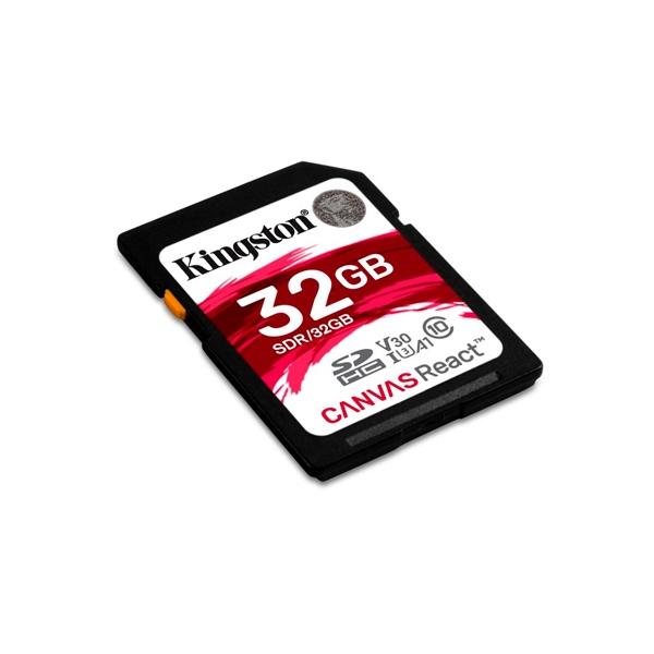 Kingston Canvas React SDHC 32GB - Memoria Flash