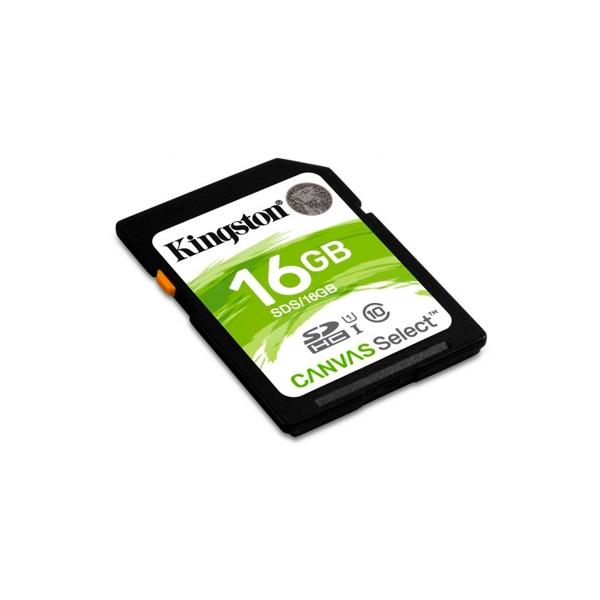 Kingston Canvas Select SDHC 16GB - Memoria Flash