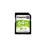 Kingston Canvas Select SDHC 64GB - Memoria Flash
