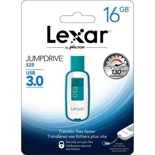 Lexar JumpDrive S25 16GB USB 3.0 130MB/s verde – Pendrive