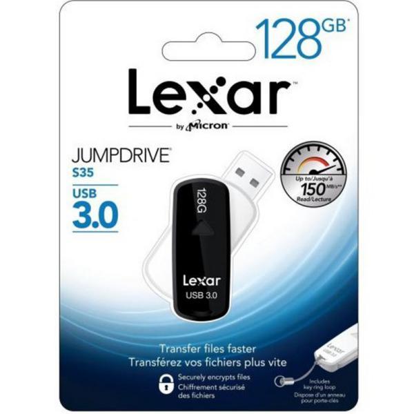 Lexar JumpDrive S35 128GB USB 3.0 130MB/s  – Pendrive