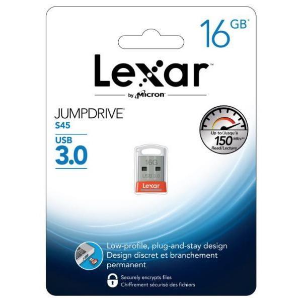 Lexar JumpDrive S45 16GB USB 3.0 130MB/s naranja – Pendrive