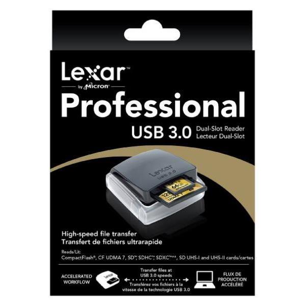 Lexar USB 3.0 Dual-Slot Reader – Multilector externo