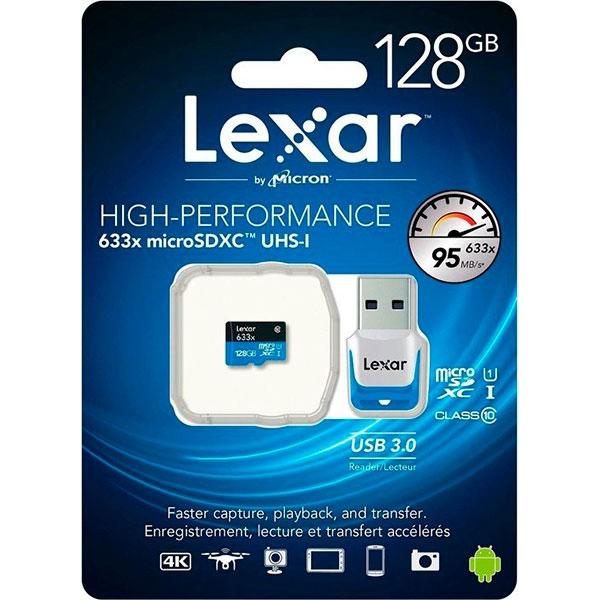 Lexar High Performance 633x 128GB 95MBs – Tarjeta MicroSD