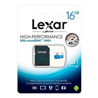 Lexar 300x 16GB con adaptador – Tarjeta MicroSD