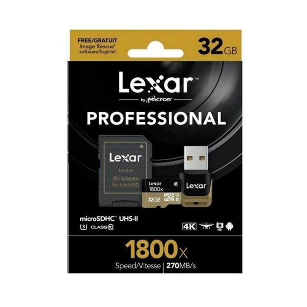 Lexar Professional 1800x 32GB 270MB/s – Tarjeta MicroSD