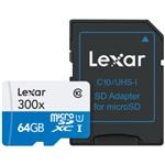 Lexar 300x 64GB con adaptador – Tarjeta MicroSD