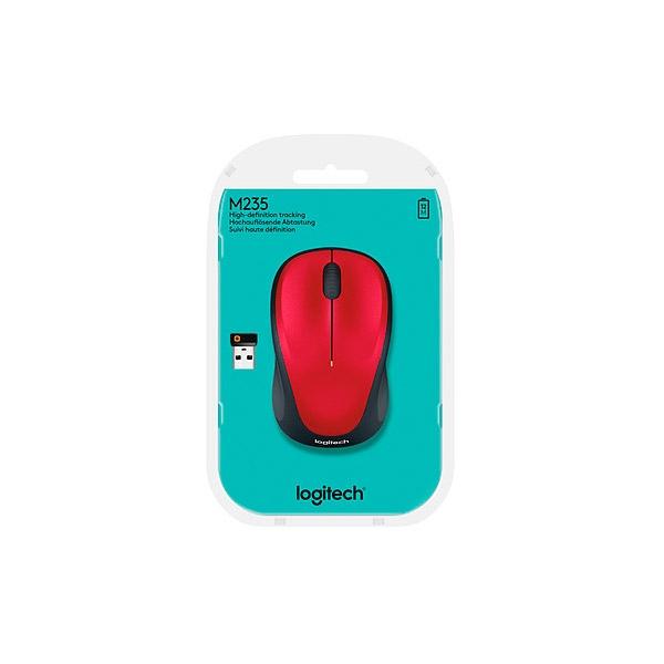 Logitech M235 rojo Wireless - Ratón