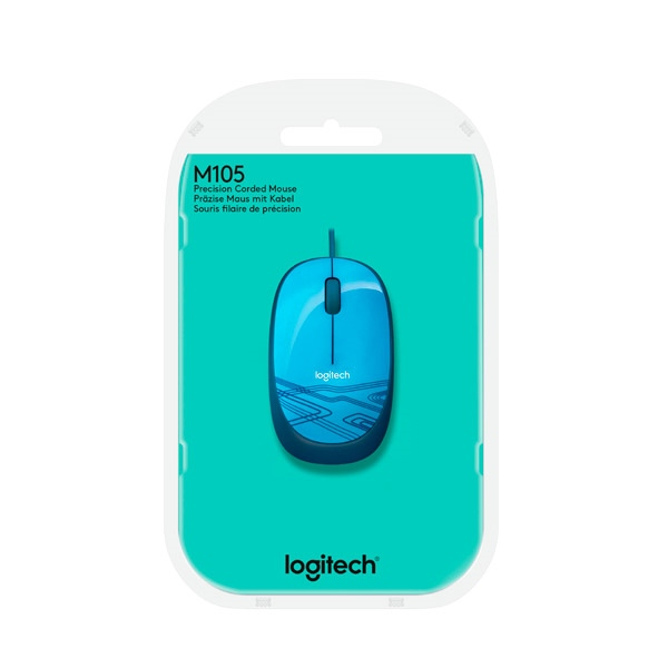 Logitech M105 azul - Ratón