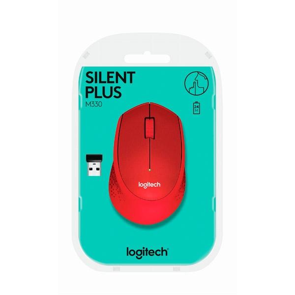 Logitech M330 Silent Plus rojo - Ratón