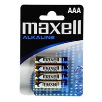Maxell Pack 4 pilas alcalinas AAA LR03-B4 – Pilas