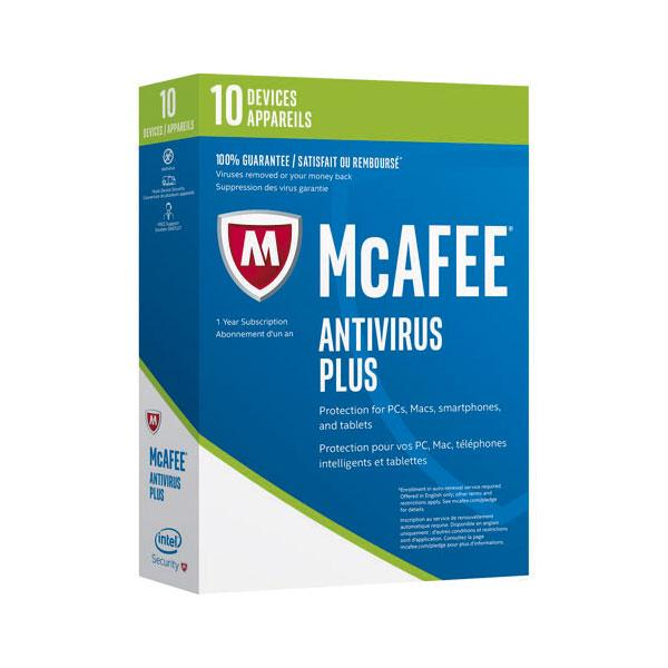 McAfee Antivirus Plus 2017 10 Licencias 1 Año – Antivirus