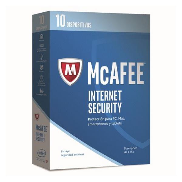 McAfee Internet Security 2017 10 Licencias 1 Año – Antivirus