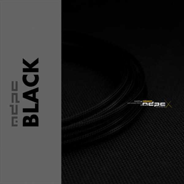 MDPC-X Negro 1m grosor de 1,7-7,8mm – Funda de cable