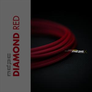 MDPC-X Rojo Diamante 1m grosor de 1,7-7,8mm – Funda de cable