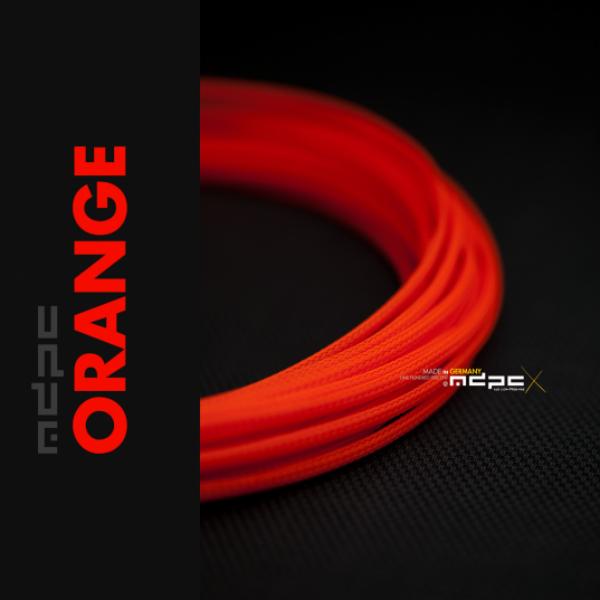 MDPC-X Naranja 1m grosor de 1,7-7,8mm – Funda de cable