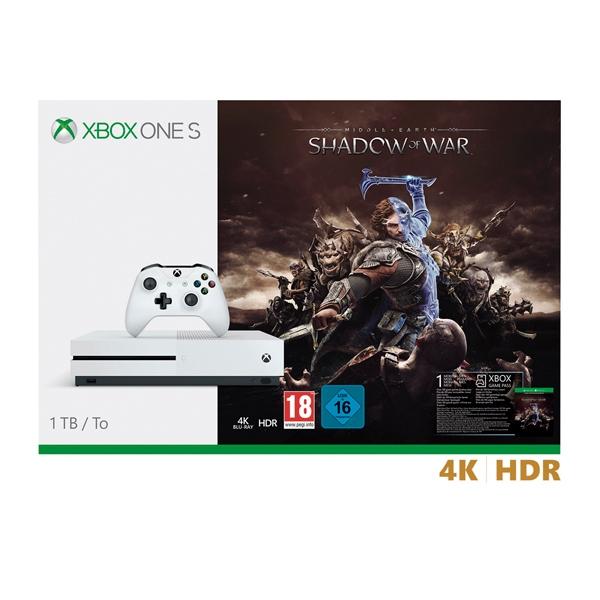 Microsoft Xbox One S 1TB + Sombras de Guerra - Consola