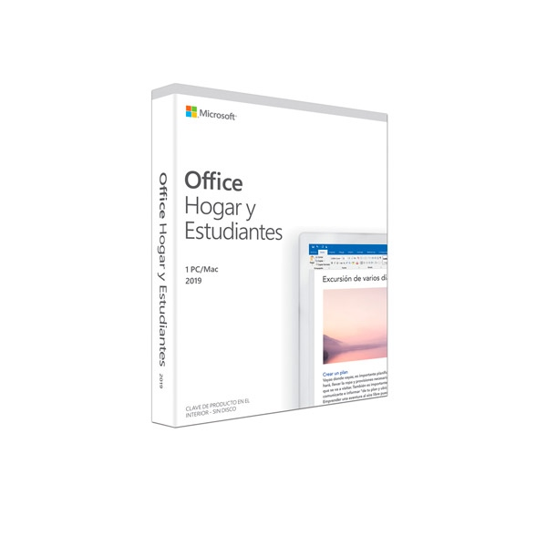 Microsoft Office Home and Student 2019 Caja - Suite