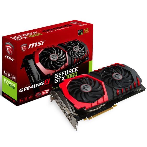 MSI Nvidia GeForce GTX1060 Gaming X 6GB – Gráfica