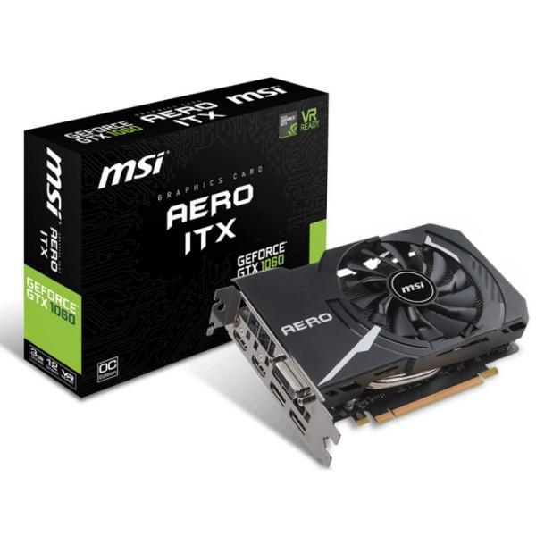 MSI Nvidia GeForce GTX1060 Aero OC ITX 3G – Gráfica